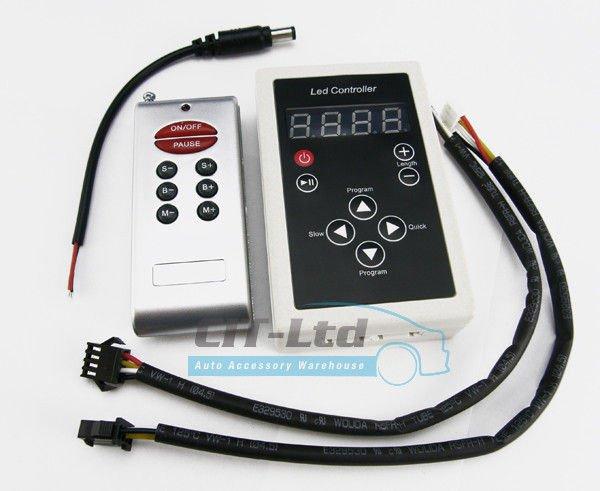 controller for led rgb digital strip rf remote 6 key controller led strip strap. Black Bedroom Furniture Sets. Home Design Ideas