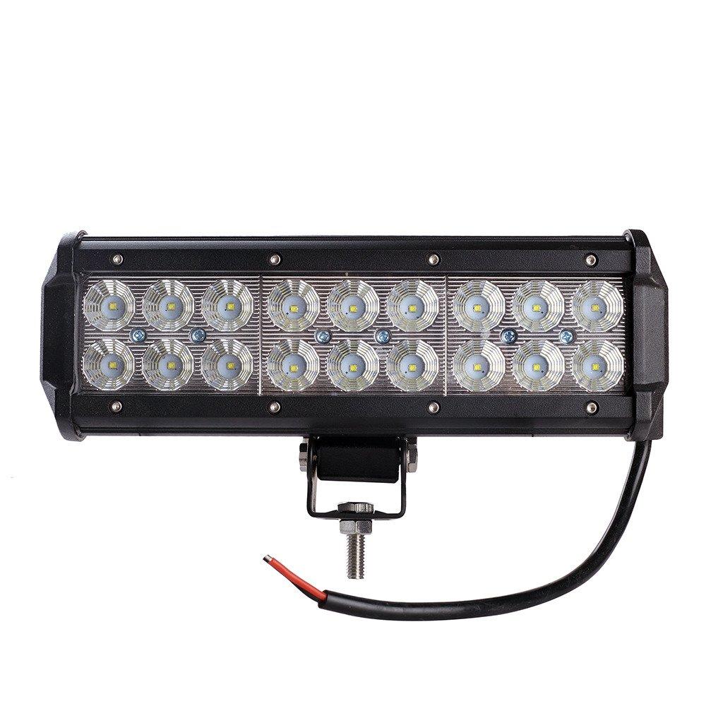 led work light bar 4x4 off road atv truck quad flood lamp 8 7 54w 18x led lb c 54w led off. Black Bedroom Furniture Sets. Home Design Ideas