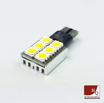 Car LED Light Bulb W5W 6xSMD-5050 CanBus WHITE