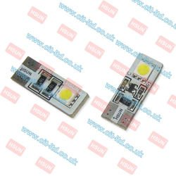 W5W (501) T10 2 LED Bulb SMD-5050  CanBus YELLOW