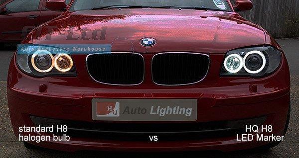 BMW E90/E9 40W RGBW MULTICOLOUR Angel Eye Marker Bulb CREE LED Chips
