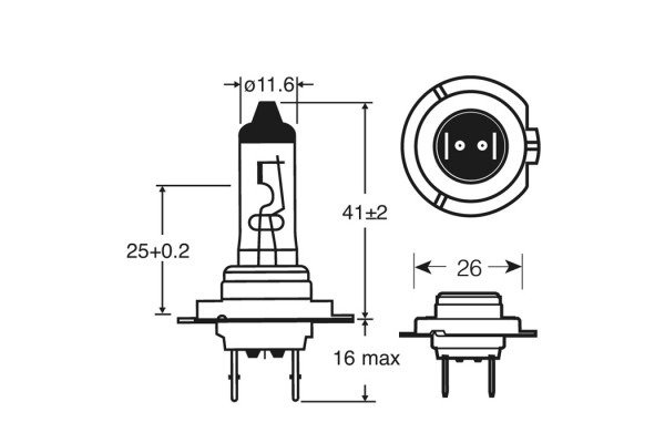 Halogen Bulb H7 Super White (Xenon) 24V 100W | Halogen Bulbs on h1 bulb diagram, h10 bulb diagram, dual filament bulb diagram, h3 bulb diagram,