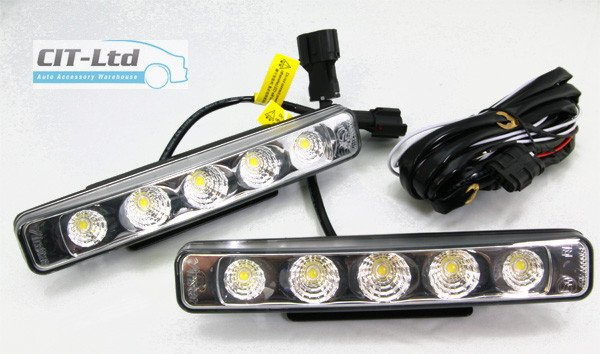 High Quality DRL Daytime Running Lights 5-LED CREE HQ-V3