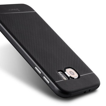 Samsung S6 Cover Case with PC surround Black