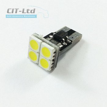 W5W (501) T10 4 LED Bulb SMD-5050 D CanBus RED