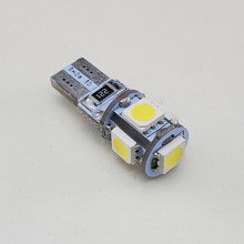 Car LED Light Bulb W5W 5x SMD-5050 CanBus GREEN